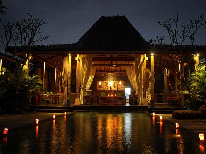 ubud virgin villa-private villa for rent in ubud-beautiful night