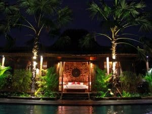 ubud virgin villa-suite deluxe pool view- night