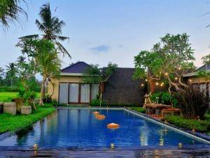 ubud virgin villa-villa 3 bedroom-rice field view