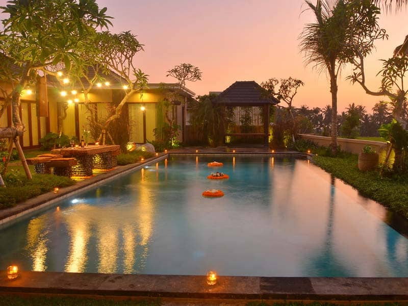 ubud virgin villa-villa 3 bedroom-romatic night