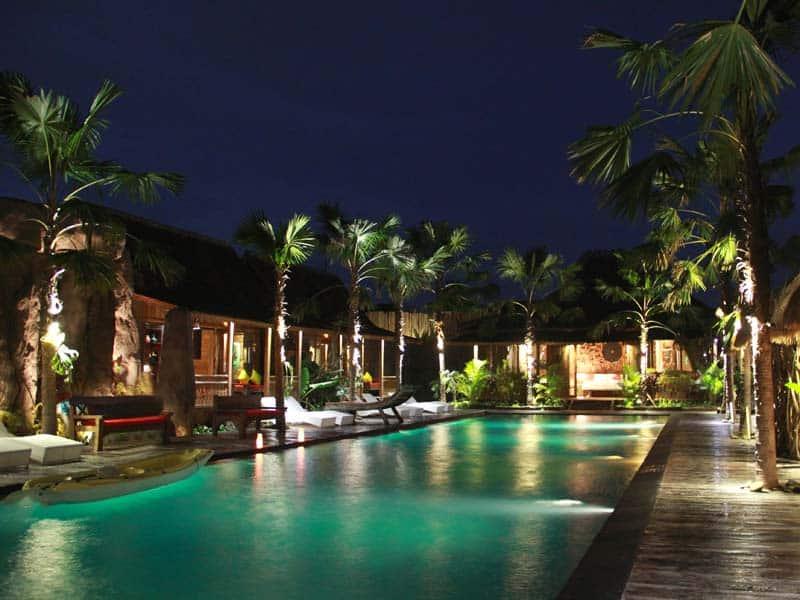 ubud virgin villa-private villa 6 bedroom-night light reflections