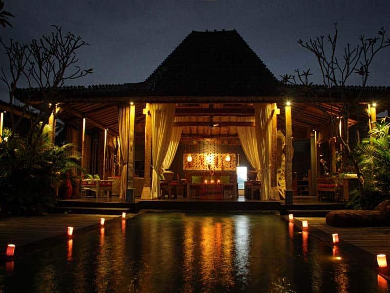 ubud virgin villa-private villa for rent in ubud-beautiful night