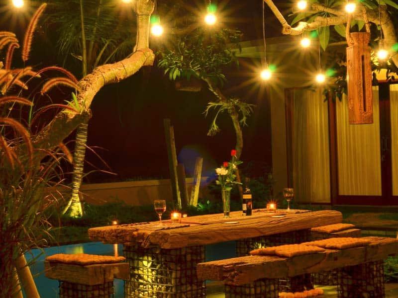 ubud virgin villa-villa 3 bedroom-open dinning consept