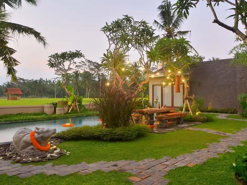 ubud virgin villa-villa 3 bedroom-surrounding by rice field scenery